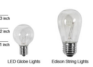 Globe String Lights Rentals : Rent LED Globe Lights in Seattle FREE delivery & Pickup